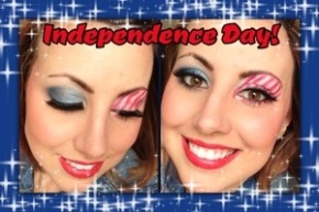 4th Of July Inspired MakeupTutorial